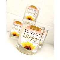 You're My Lifejoy Candles image of 4 candles with the Sunflower on the front